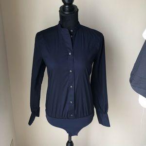 New J.Crew bodysuit collard shirt top size 4
